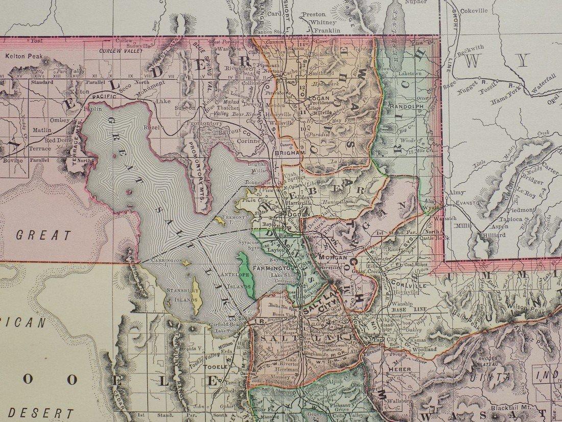 Map of Utah, 1895 - 4