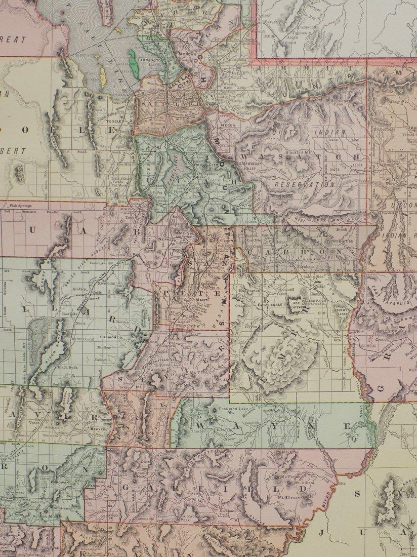 Map of Utah, 1895 - 5