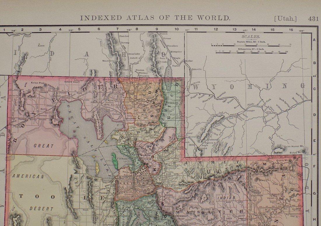 Map of Utah, 1895 - 6