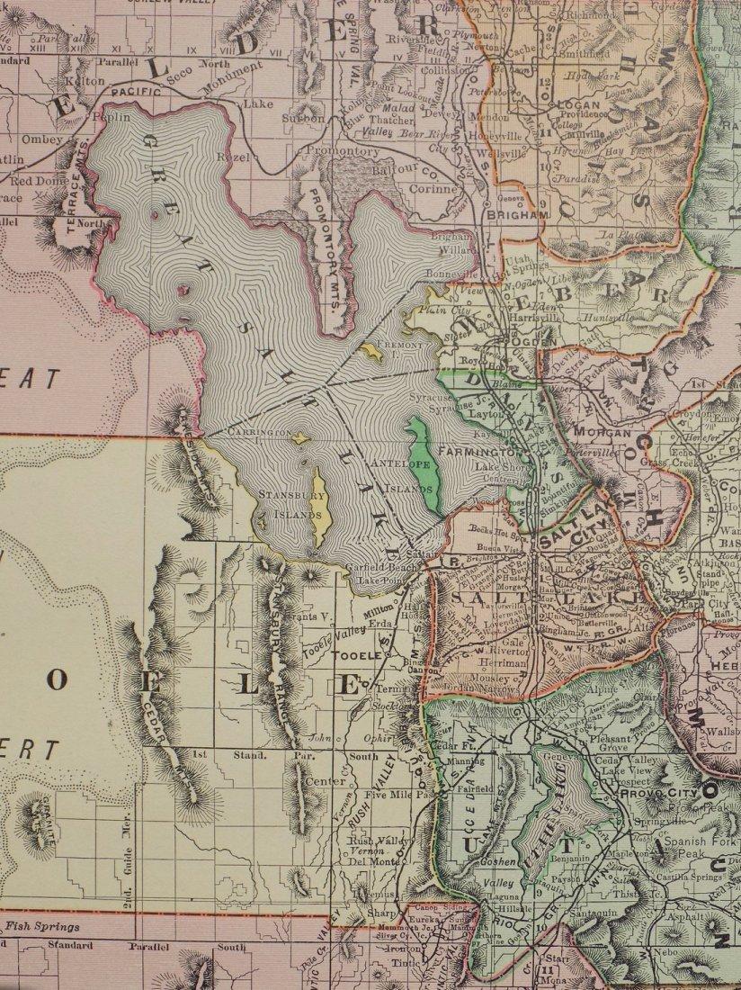 Map of Utah, 1895 - 7
