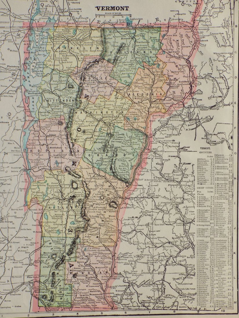 Map of Vermont, 1902 - 2