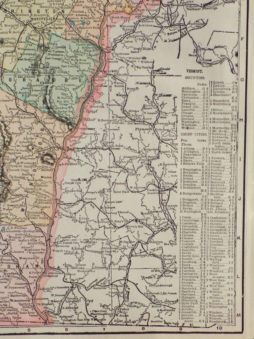 Map of Vermont, 1902 - 3