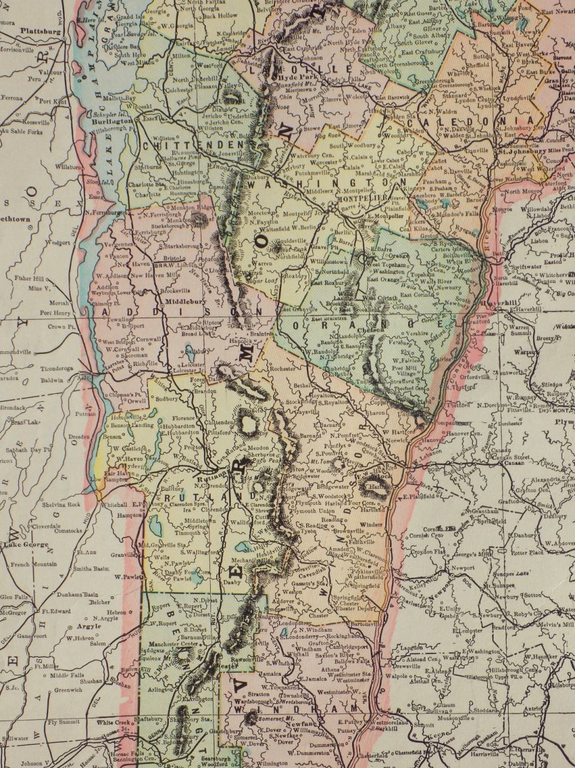 Map of Vermont, 1902 - 4