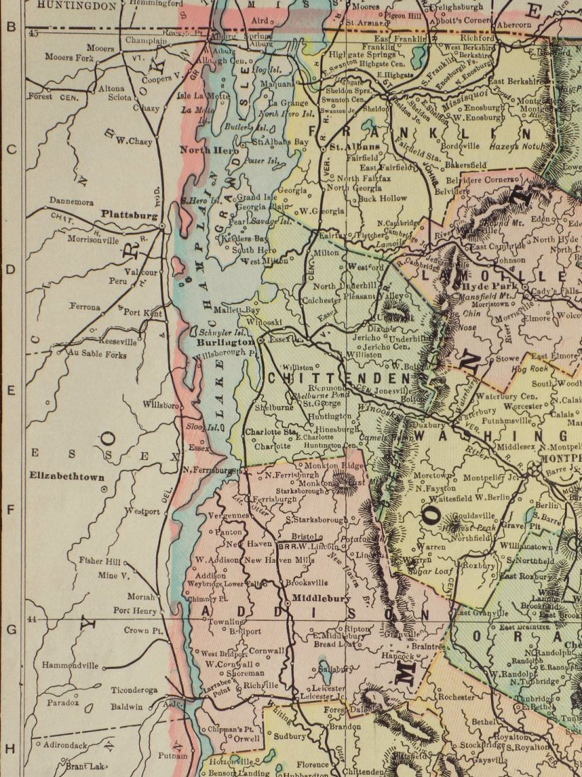 Map of Vermont, 1902 - 6