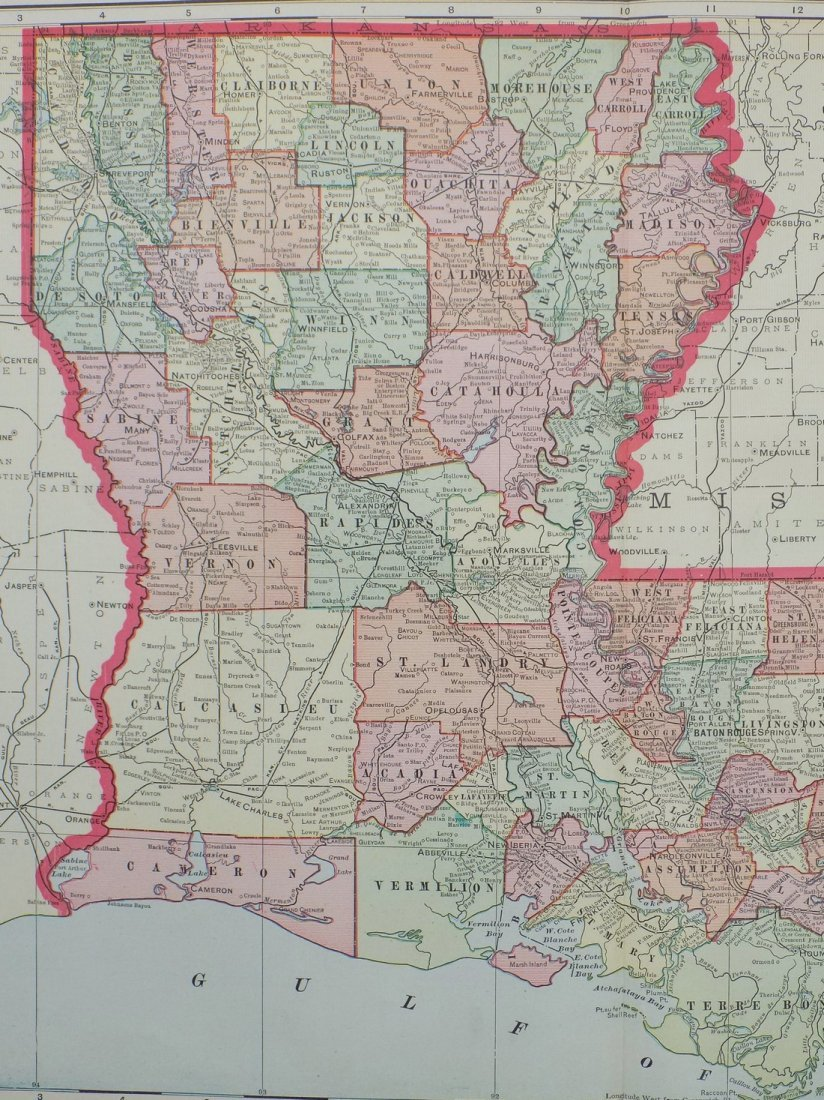 Map of Louisiana, 1902 - 3