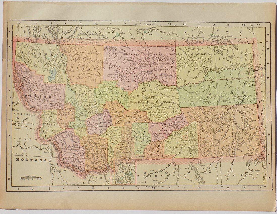 Map of Montana, 1902