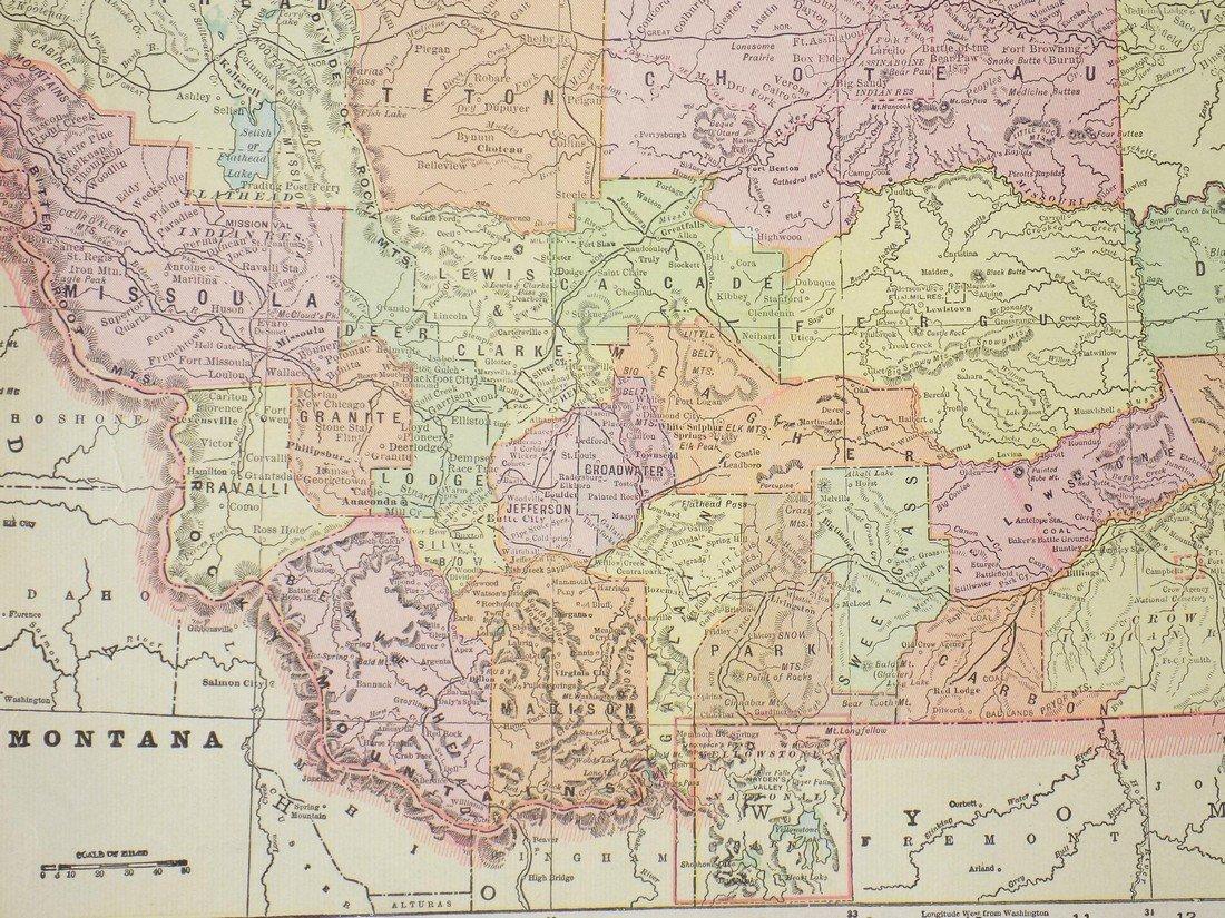 Map of Montana, 1902 - 3