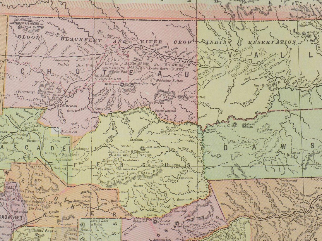 Map of Montana, 1902 - 5