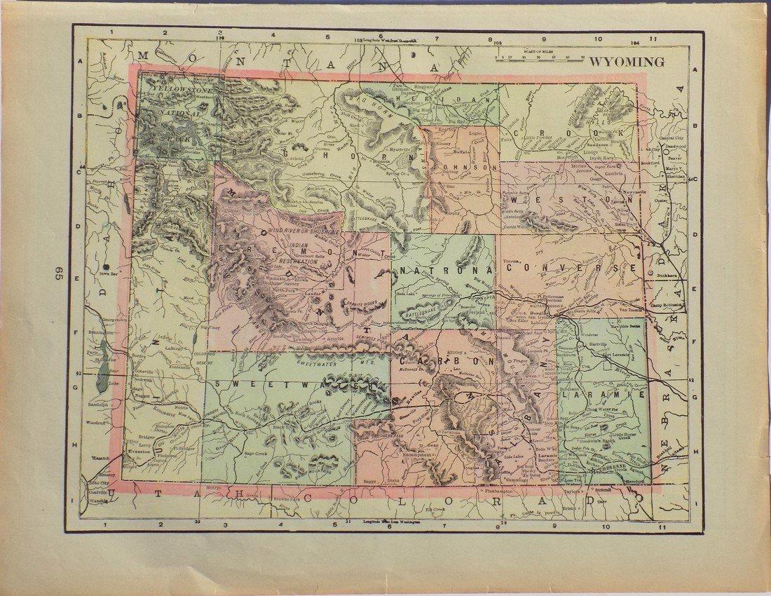 Map of Wyoming, 1902