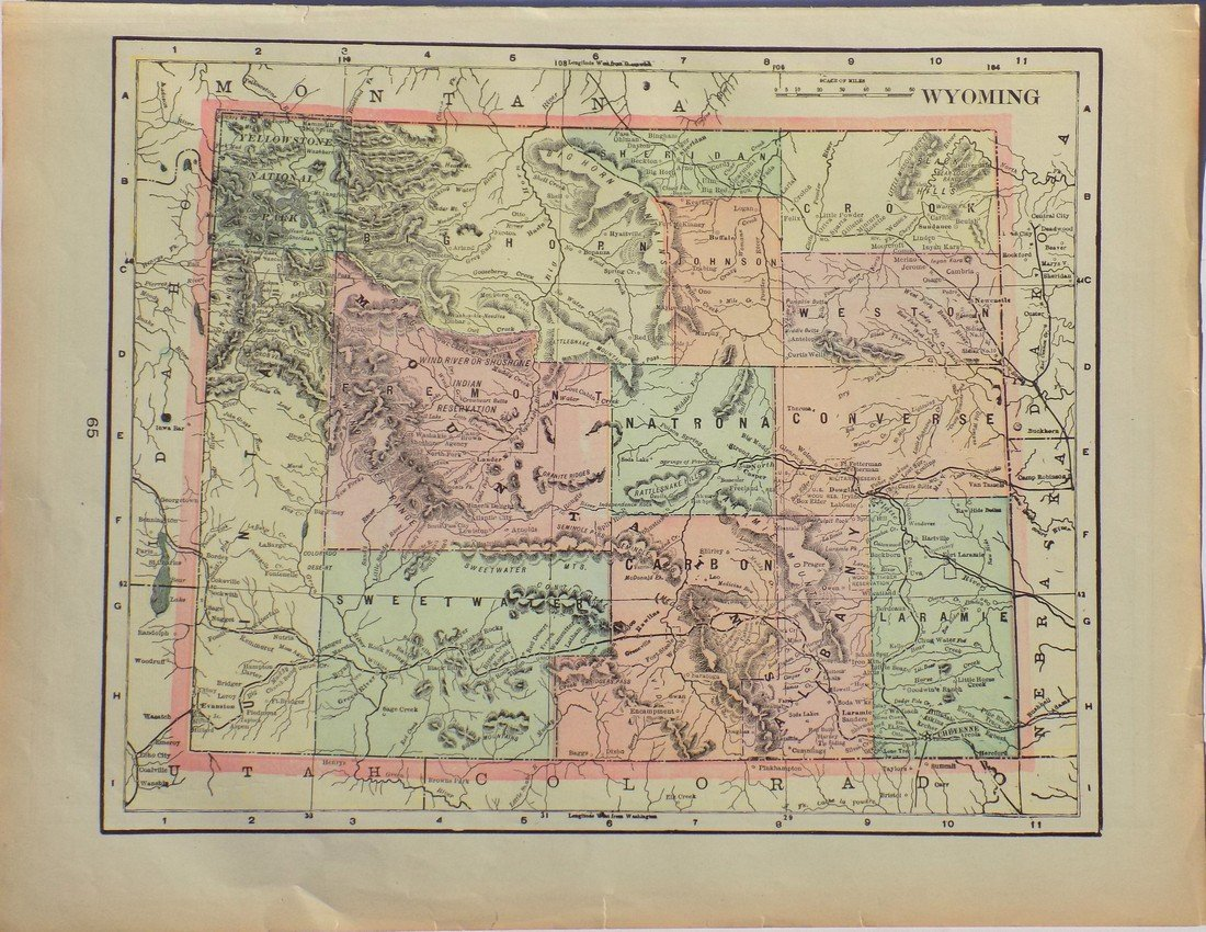 Map of Wyoming, 1902