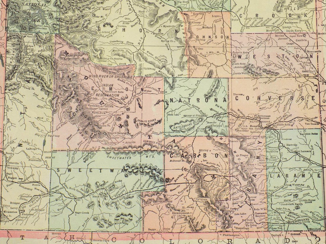 Map of Wyoming, 1902 - 2