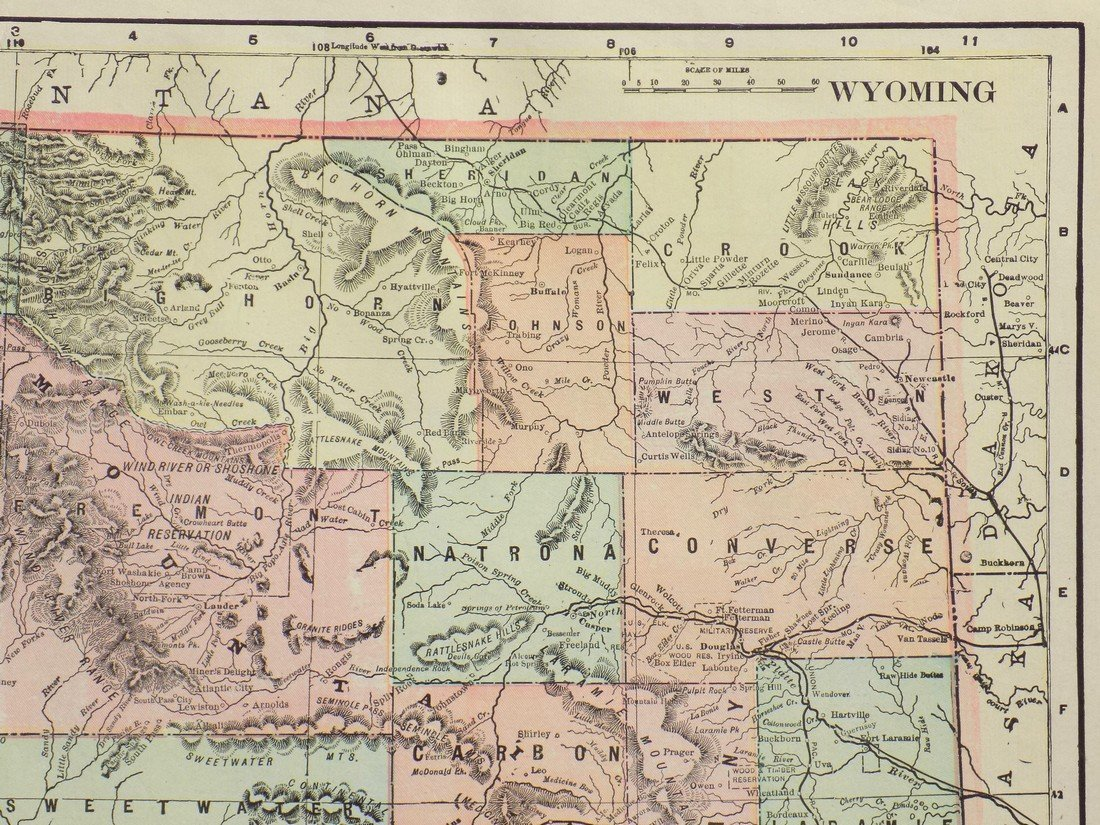 Map of Wyoming, 1902 - 3