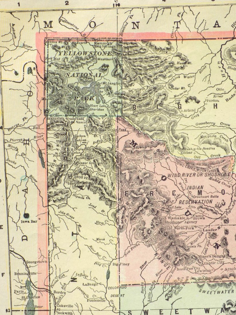 Map of Wyoming, 1902 - 4