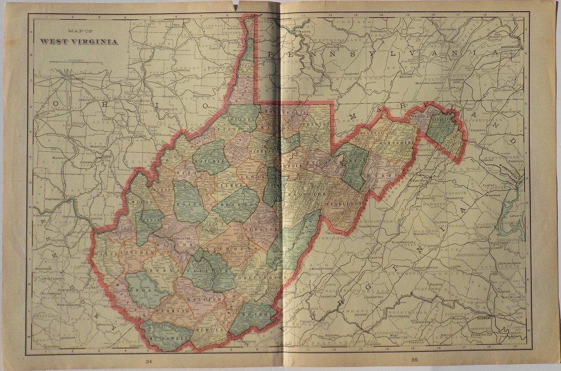 Map of West Virginia, 1902