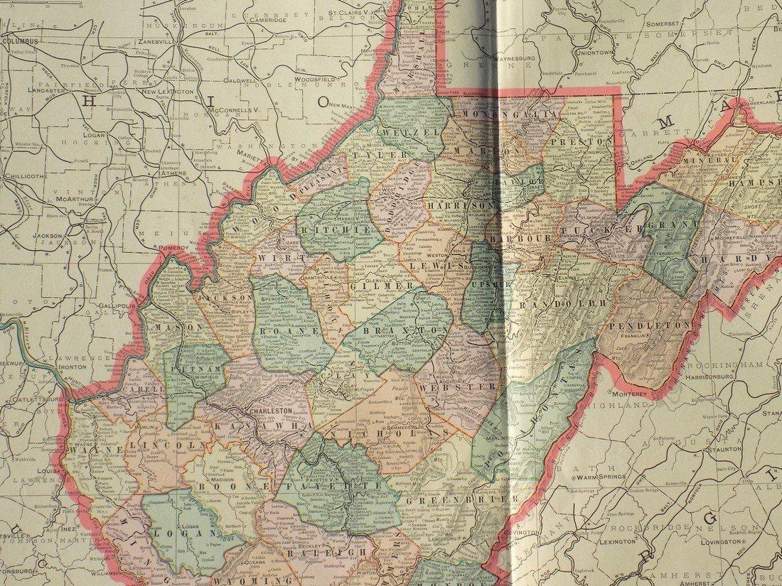 Map of West Virginia, 1902 - 2