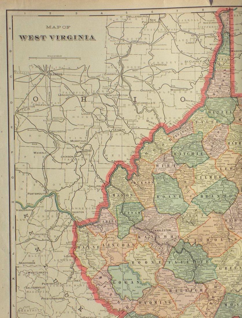 Map of West Virginia, 1902 - 3