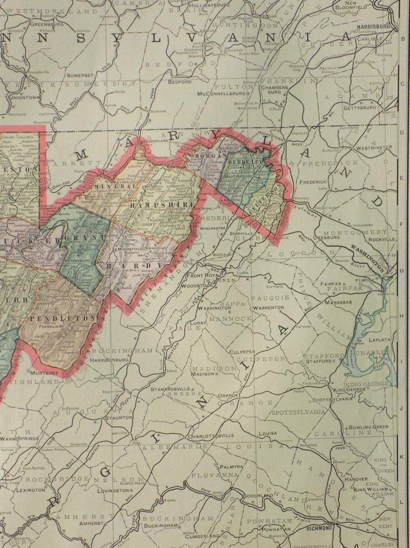 Map of West Virginia, 1902 - 4