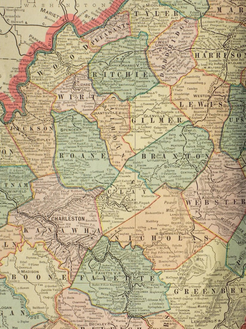 Map of West Virginia, 1902 - 5