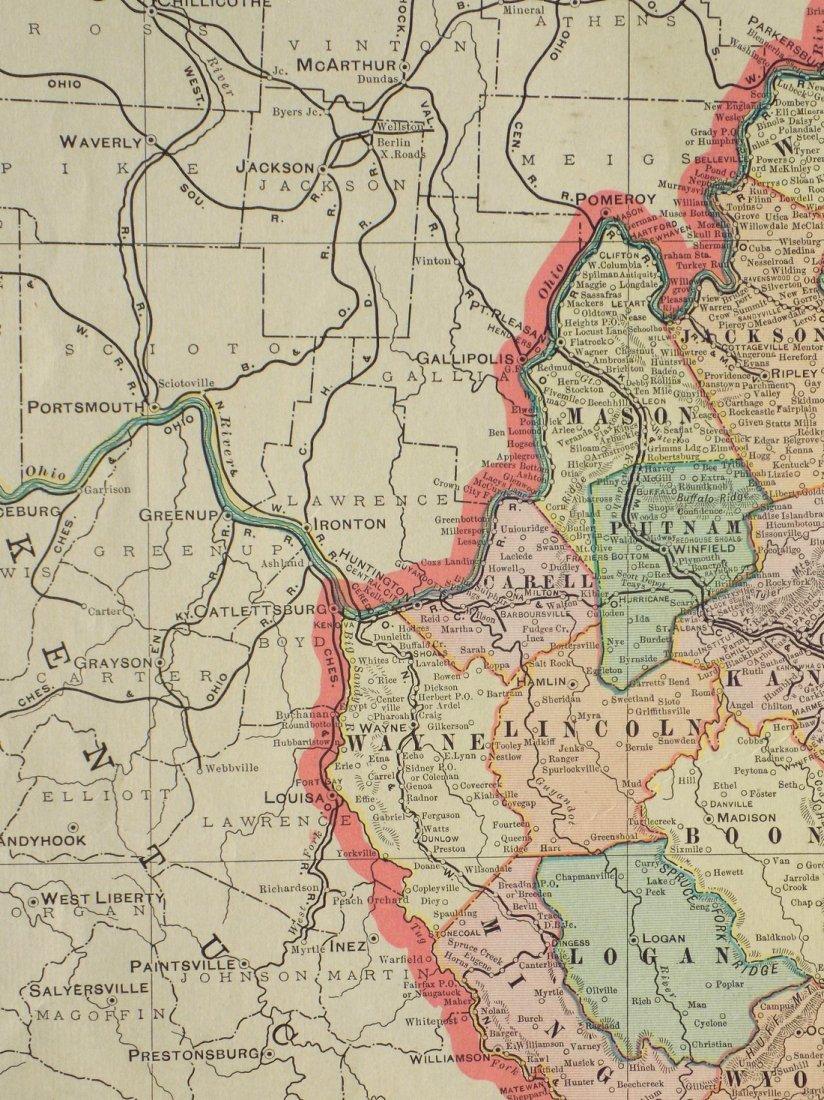 Map of West Virginia, 1902 - 6