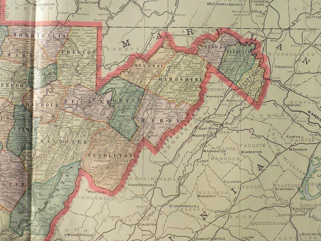 Map of West Virginia, 1902 - 7