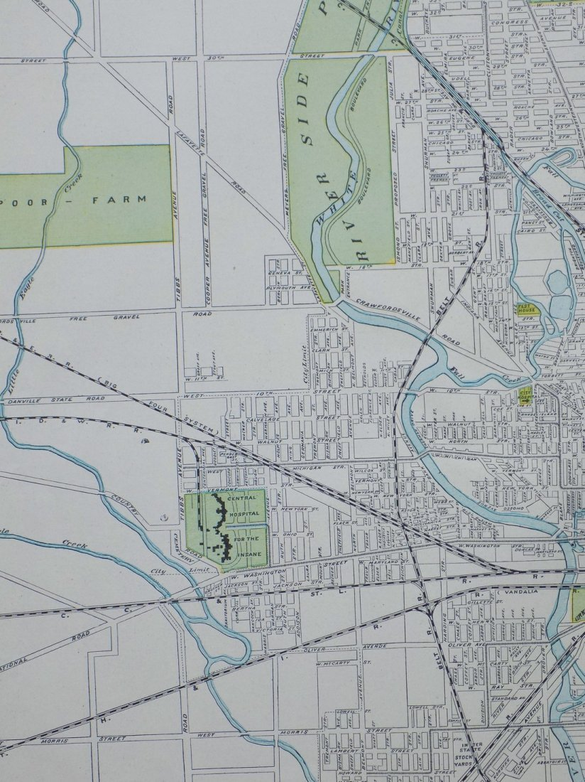 Map of Indianapolis, 1902 - 3