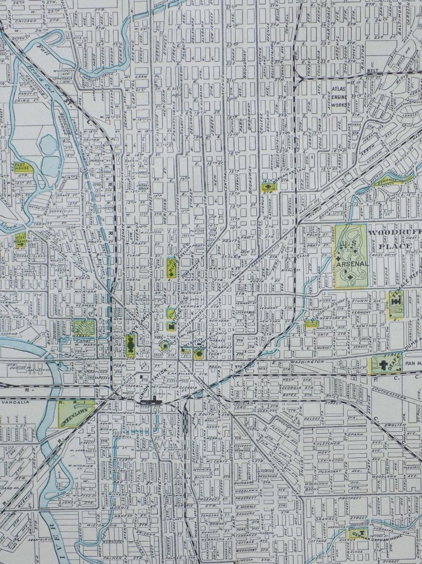 Map of Indianapolis, 1902 - 4