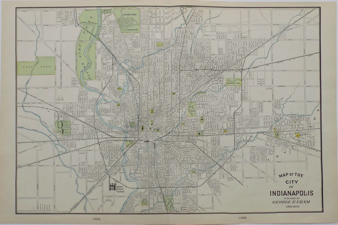Map of Indianapolis, 1902 - 8