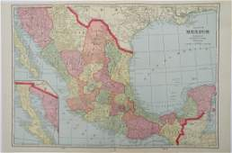 Map of Mexico 1902