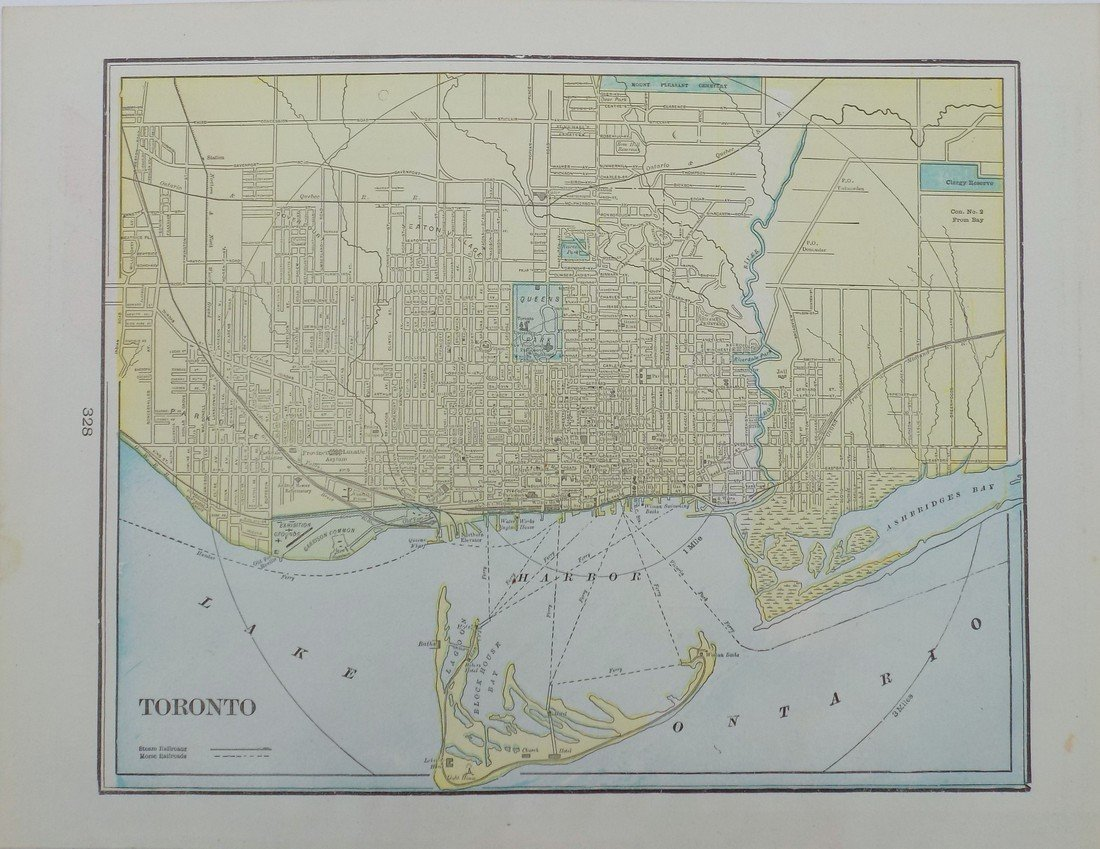 Map of Toronto, 1902