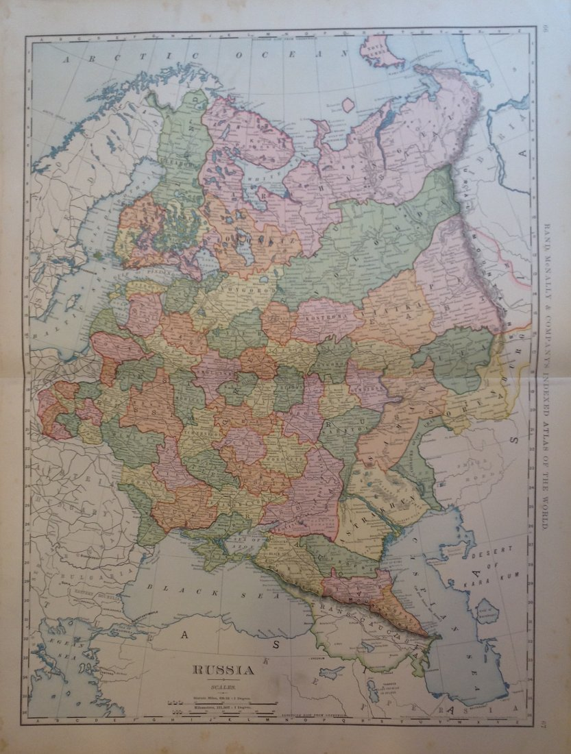 Map of Russia, 1898