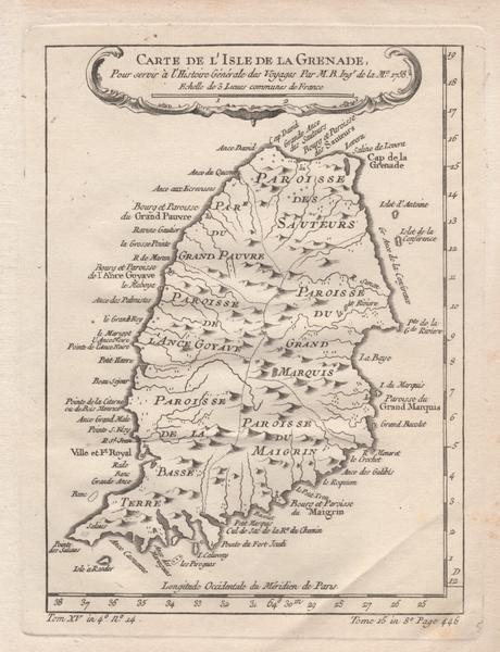 Carte De L'Isle De La Grenade