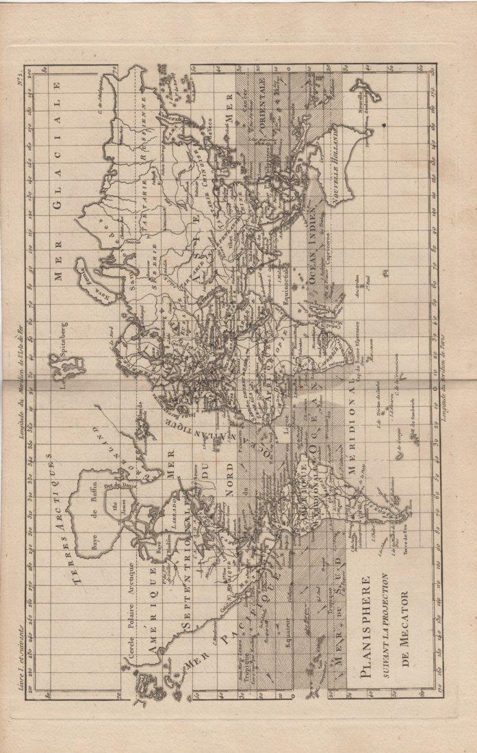 Planisphere, Direction of Ocean Currents