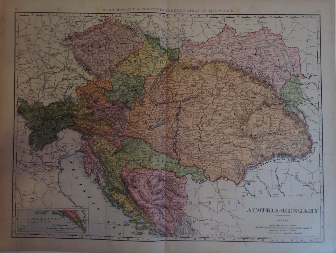 Map of Austria-Hungary, 1898
