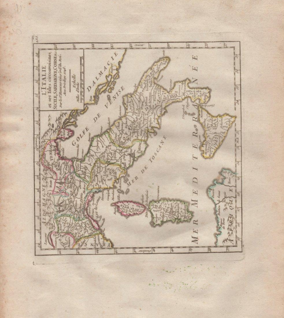 Map of Italian Peninsula