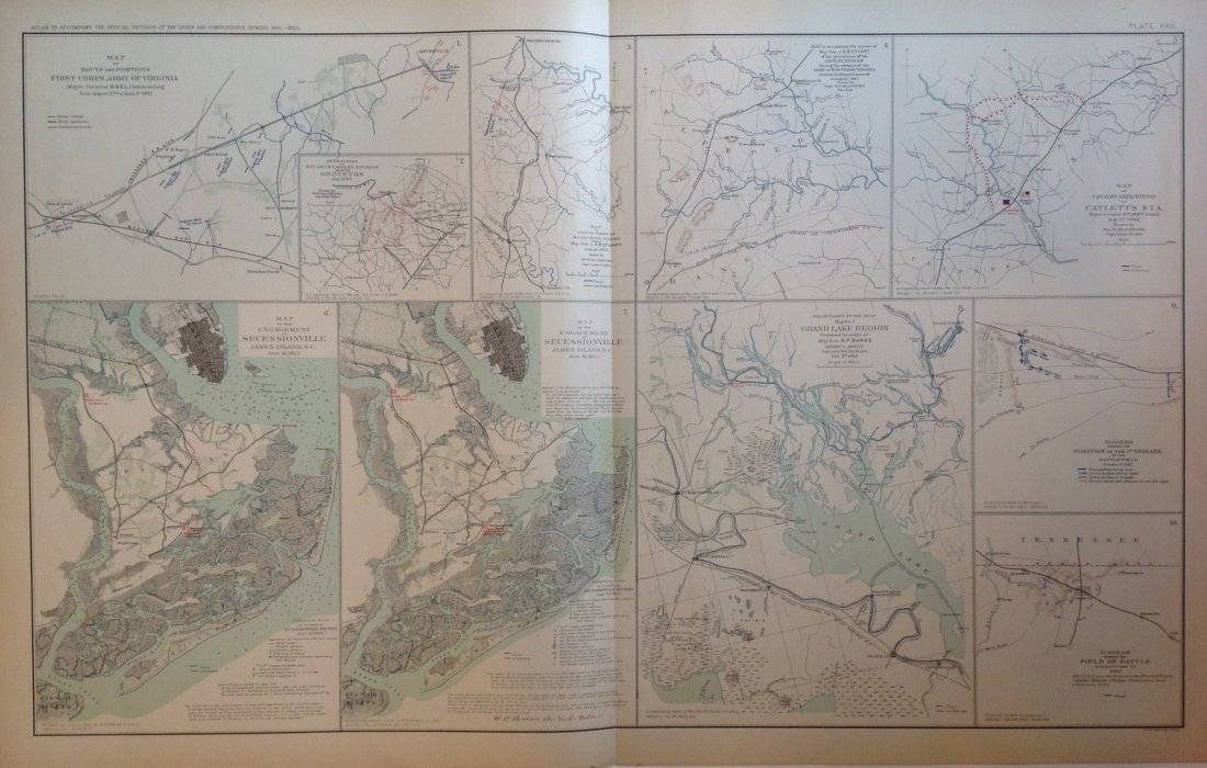 Civil War Map of Secessionville, James Island