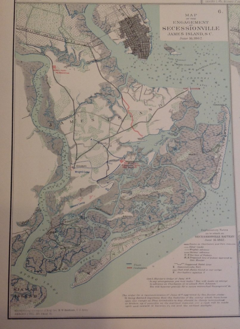 Civil War Map of Secessionville, James Island - 3
