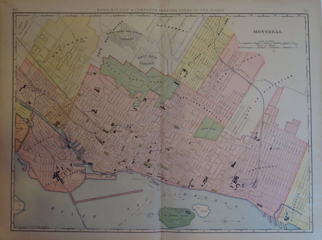 Map of Montreal, 1898