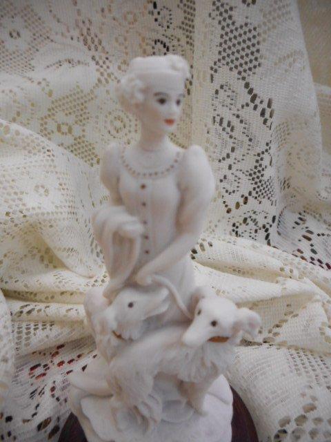 Giuseppe Armani Mini Figurine: Lady with Dogs - 2