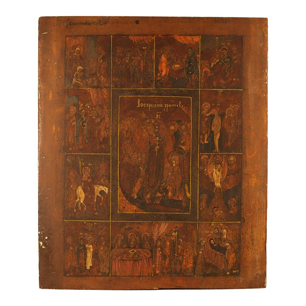 Russian Icon: Great Feasts of the Orthodox Church