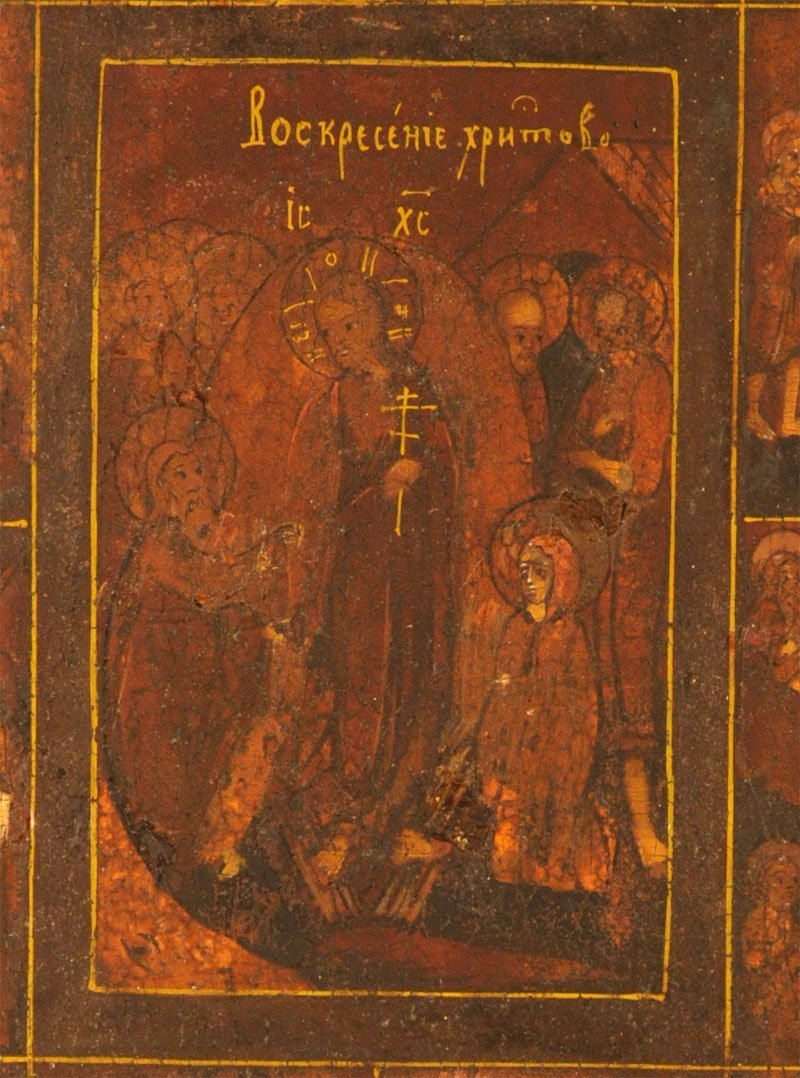Russian Icon: Great Feasts of the Orthodox Church - 2