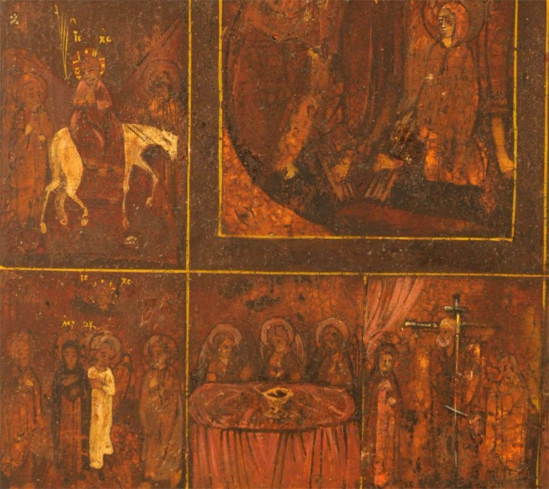 Russian Icon: Great Feasts of the Orthodox Church - 3