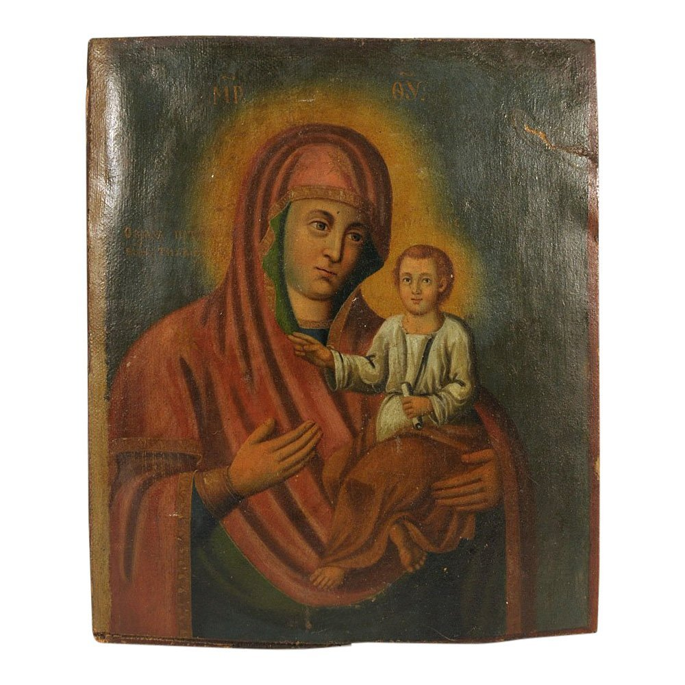 Russian Icon: Our Lady of Tikhvin