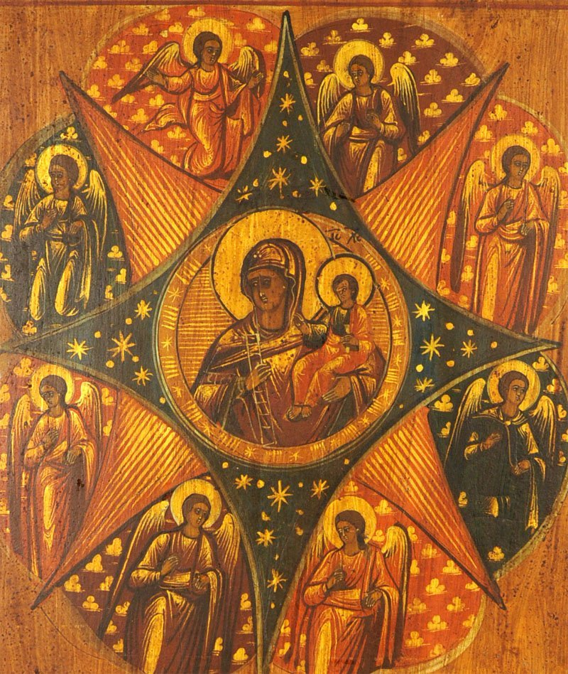 Russian Icon: Our Lady of the Unburnt Bush - 2