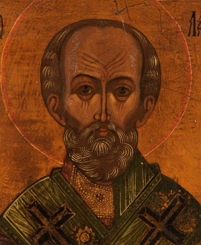 Russian Icon: Saint Nicholas of Myra with Gospels - 2