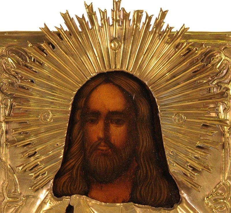 Russian Oklad Icon: Christ Emmanuel - 2