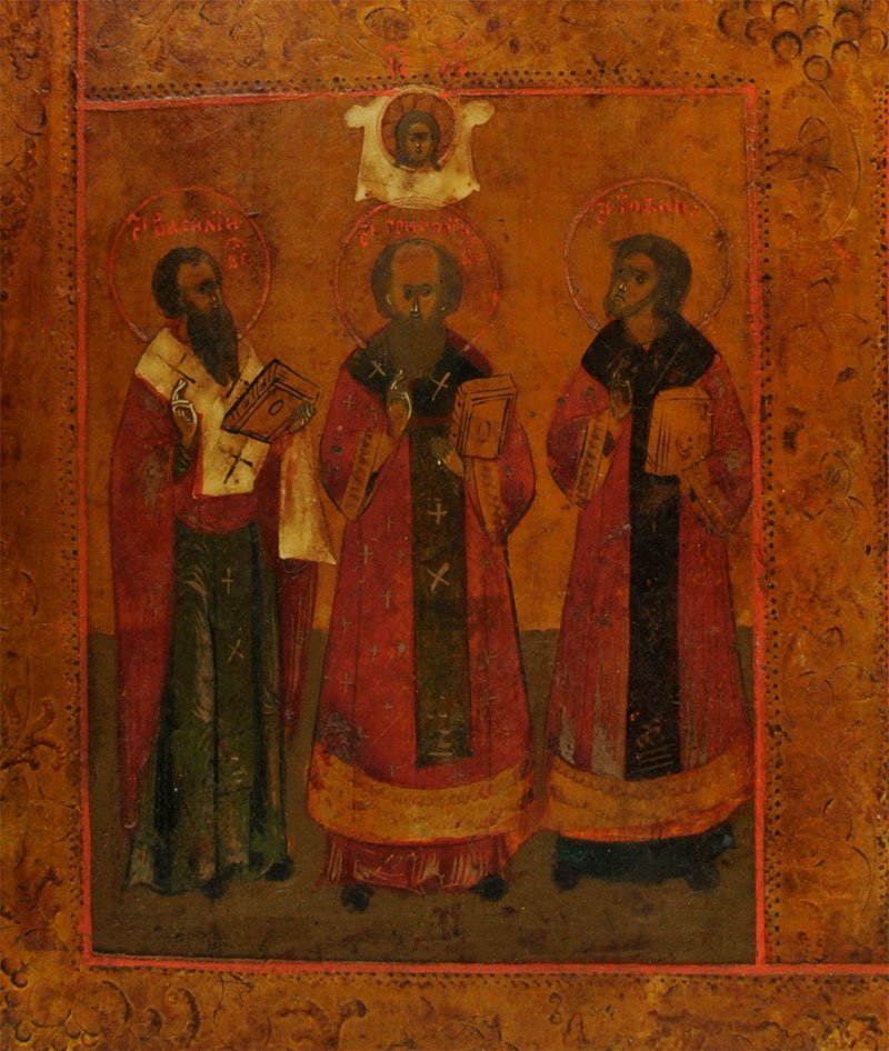 Russian Four Panel Icon: Christ, Saints, and Hierarchs - 3