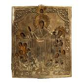 Russian Oklad Icon Our Lady of Joy