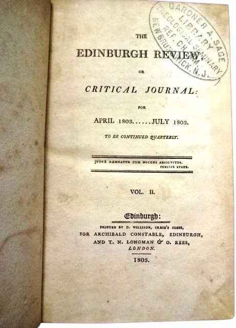 The Edinburgh Review by D. Willison