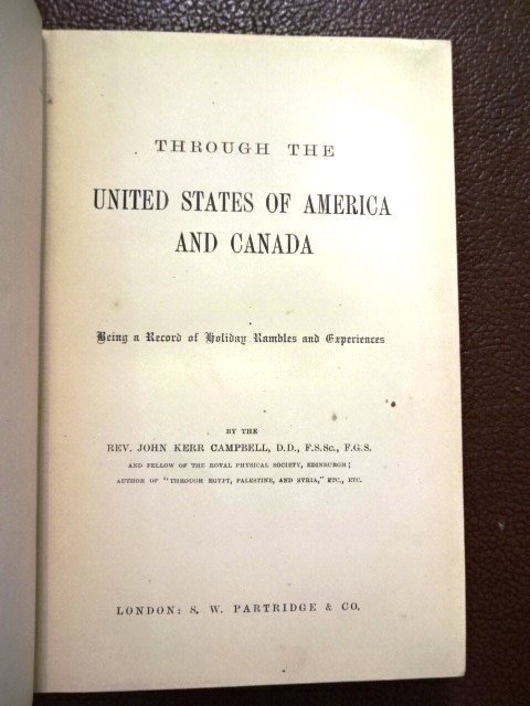 Through the United States & Canada by Rev. Campbell - 2