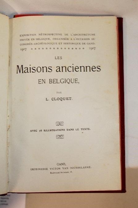Les Maisons Anciennes by Louis Cloquet - 2